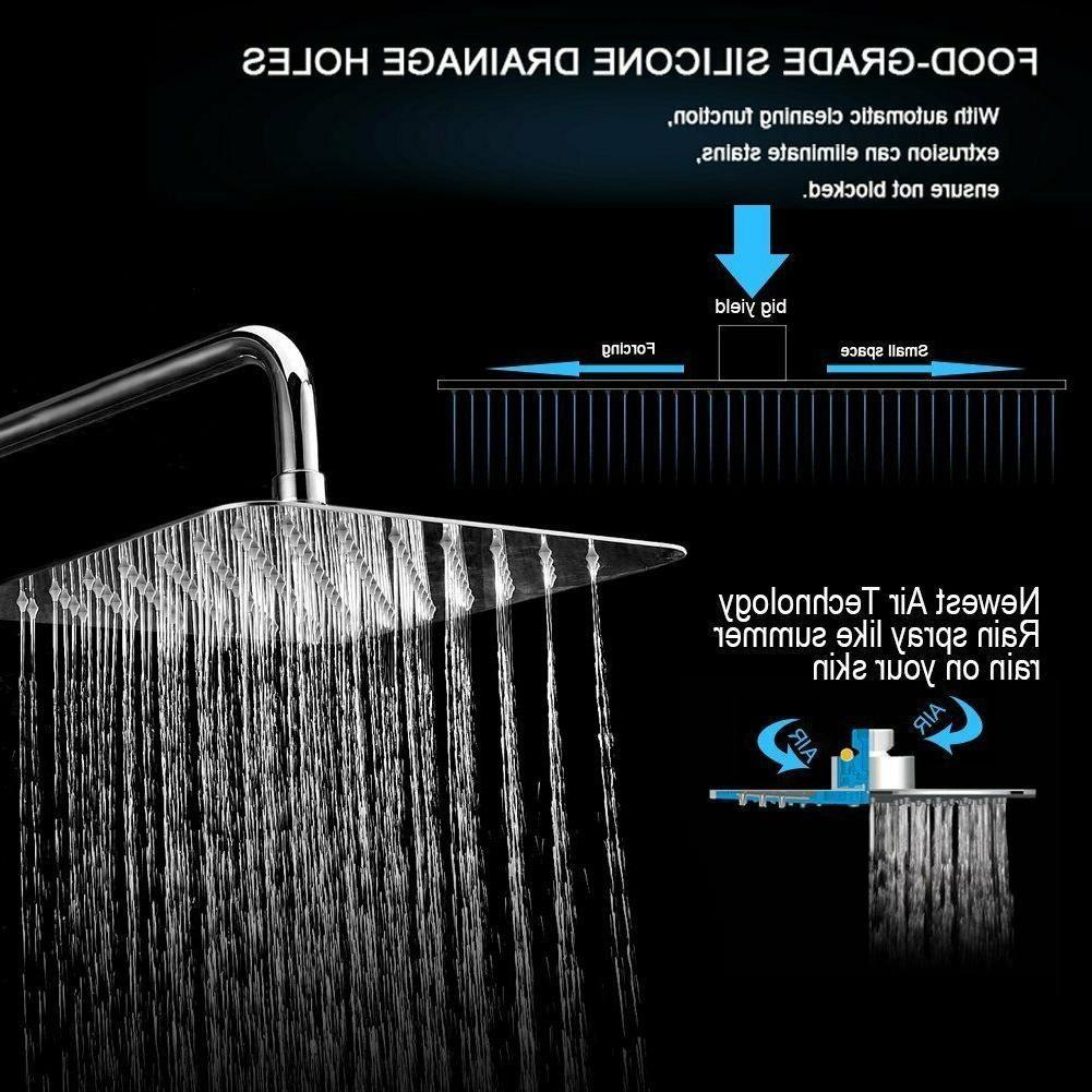 "8"" Rainfall Shower Head Bathroom Rain Hotel"