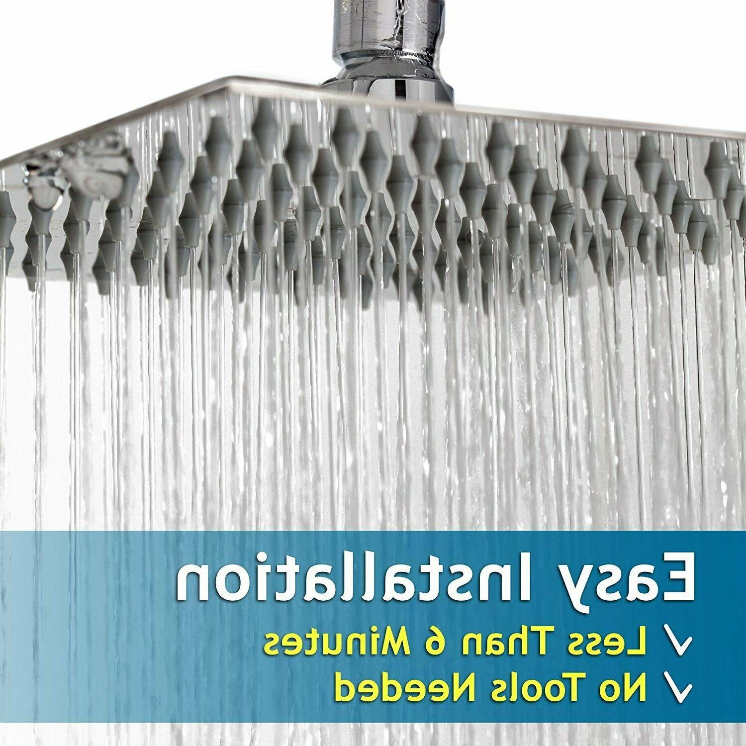 8 bathroom rain sprayer stainless steel square