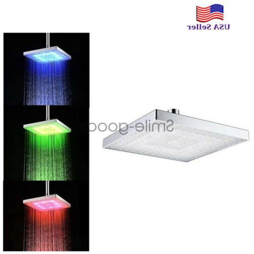 """8"""" Automatic Changing Color Light ABS Plastic Head~USA"""