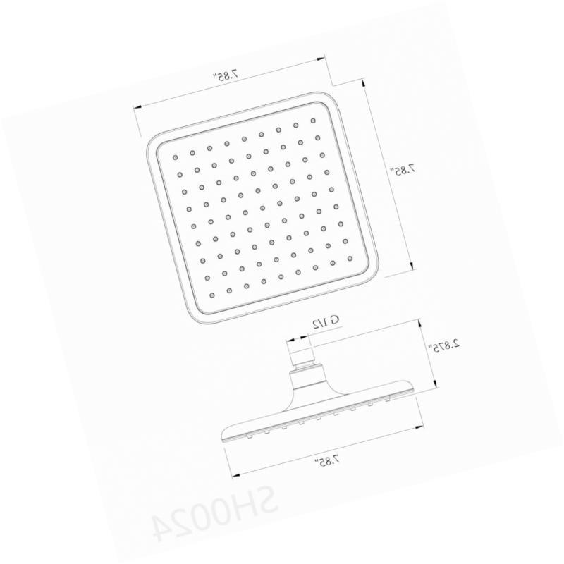 AKDY Square Style High Flat Chrome