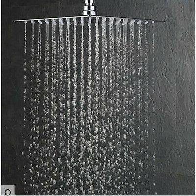 8'' Square Stainless Rain Shower Head Bathroom Sprayer