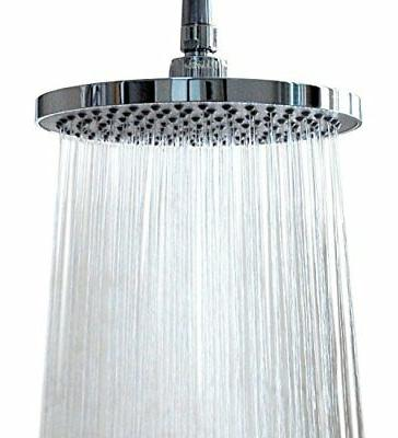 """WantBa 8"""" Wide 157 Jets Rainfall Wall Mount Shower Head with"""
