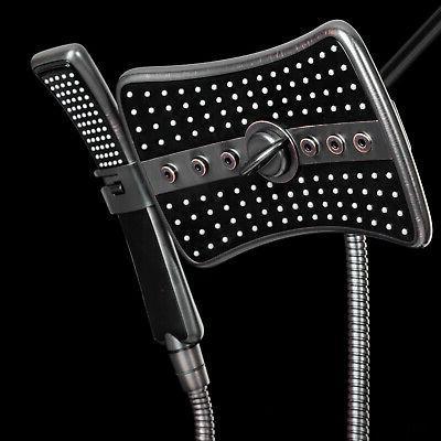 "AKDY 9"" Rectangular Shower Head W/ 4 Multi-Function Modes &"