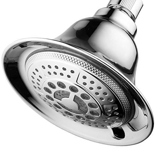 DreamSpa Chrome Water Temperature Controlled 5-Setting Shower-Head Top Brand of lights automatically according temperature