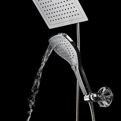 "DreamSpa 9"" Shower for easy Switch flow settings the Chrome"
