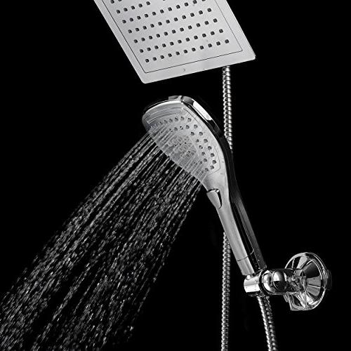 DreamSpa Shower Combo. Convenient Push-Button Control for easy operation. Switch the Chrome