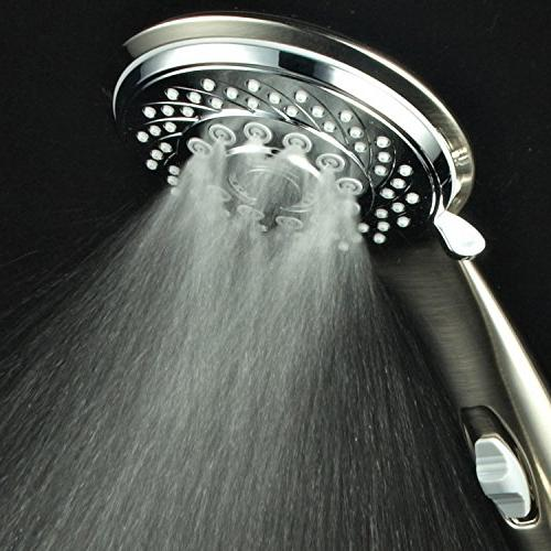 HotelSpa 7-Setting Ultra-Luxury Shower-Head On/Off Pause Switch