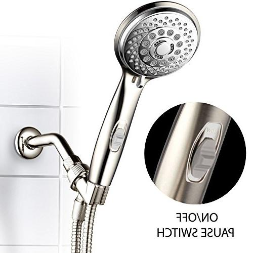 HotelSpa 7-Setting Shower-Head Patented Pause Switch