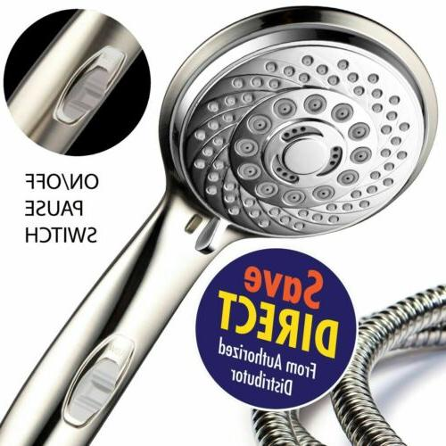 HotelSpa 7-Setting Ultra-Luxury Handheld Shower-Head with Pa