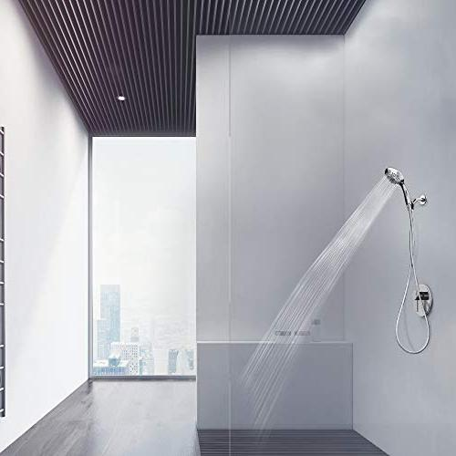 ShowerMaxx Luxury Series 6 Spray Settings 4.5 Held Shower Extra Hose Shower with Easy-to-Remove Restrictor   Finish