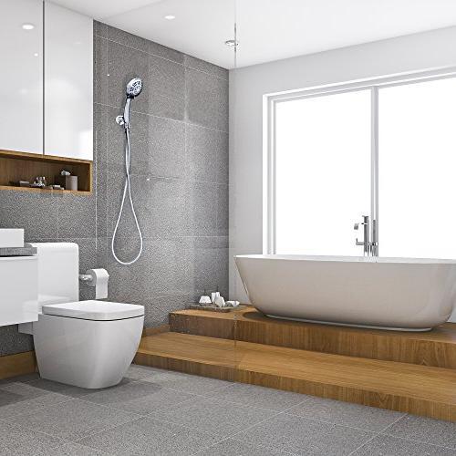 ShowerMaxx Held Shower   Extra Stainless Hose Shower Restrictor   Chrome Finish