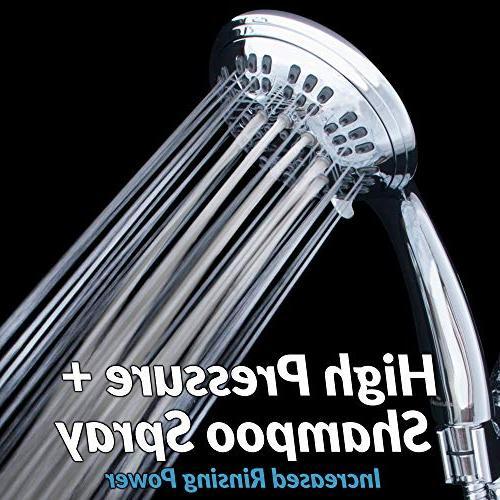 ShowerMaxx Settings 4.5 Held Head | Extra Steel Hose Shower Restrictor Chrome Finish