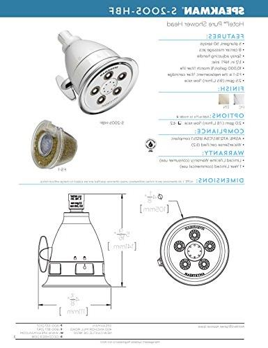 Speakman Pure Anystream GPM Adjustable Head, Polished