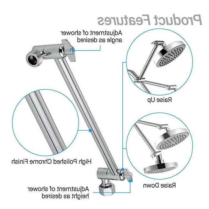 adjustable shower arm bathroom wall mount pipe