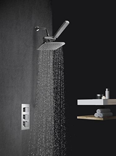 AMG and - Manhattan High Rainfall Shower with Design, Finish with Water Diverter and