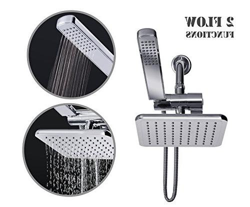 AMG and Enchante - Rainfall Shower Head with Design, Finish with and