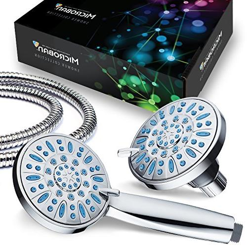 Antimicrobial/Anti-Clog High-Pressure Combo by AquaDance Microban Nozzle Protection from Growth of & Stronger Shower!