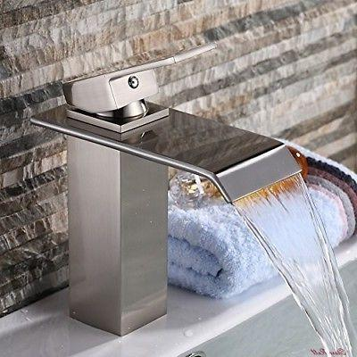 bath vanity faucet handle waterfall bathroom tools