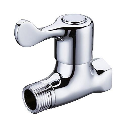 Polished Chrome Weirun Bathroom Brass Quarter Turn Straight//Stop//Check Shut-off Water Valve 1//2/¡/± IPS Female and Male Connection Ceramic Disc Cartridge