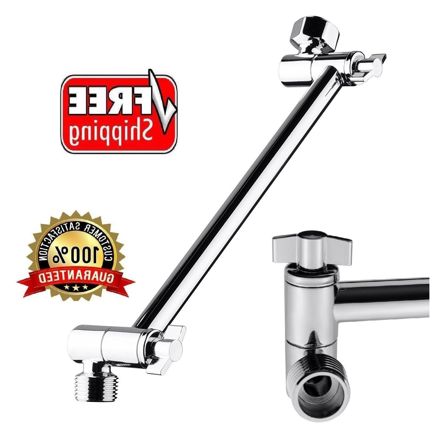 Bathroom Wall Mount Pipe Extension Shower Head Arm 9.5 Inch