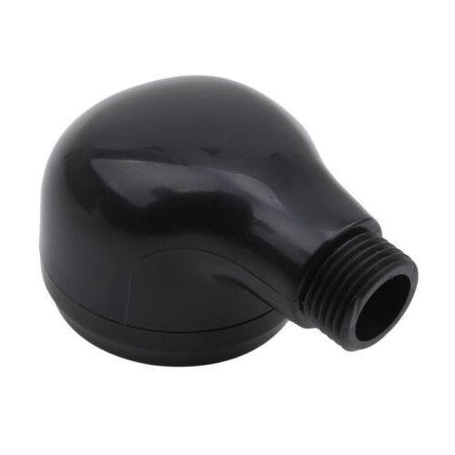 Black Small Shower Head Round Plastic Head Bathroom