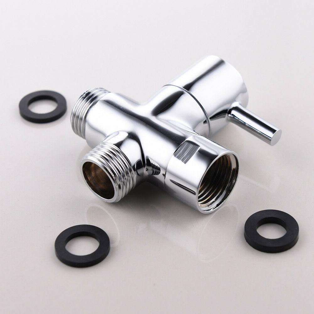 Brass 3-way Diverter for Shower Bath T Adapter