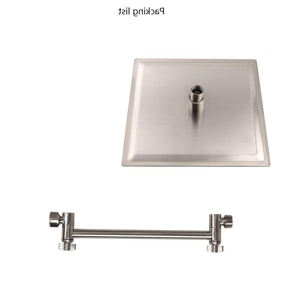 Brushed Nickel 12 Adjustable Rain Shower 11 Inch
