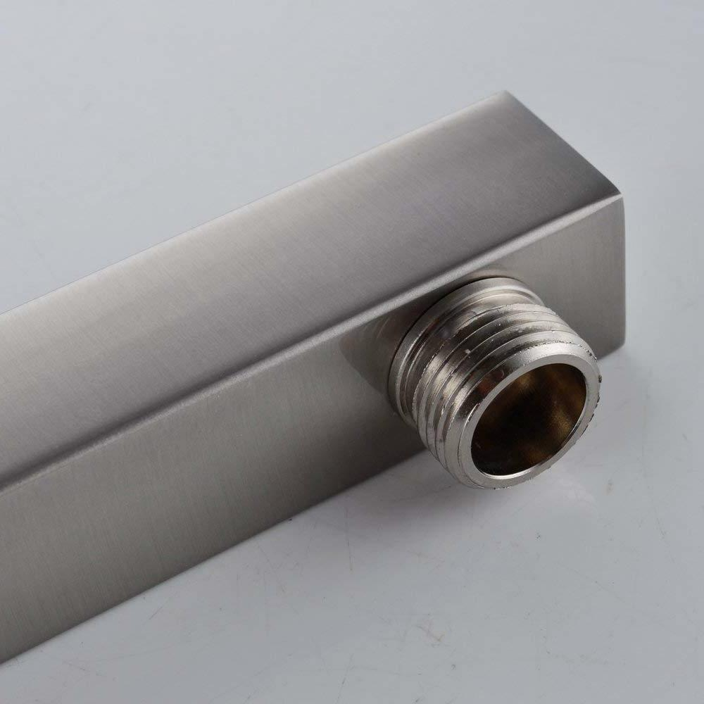 Brushed Nickel Straight Wall-Mounted Bathroom Extension Arm