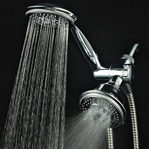 """Hydroluxe Showerhead & High Pressure Function 4"""" System with Stainless Steel Hose, 3-way Diverter, Finish"""