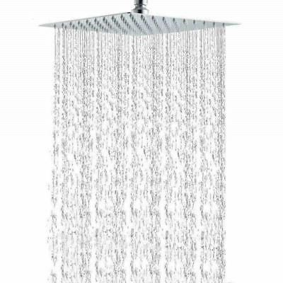 Chrome Stainless 8 in Square Shower Head Ultra High