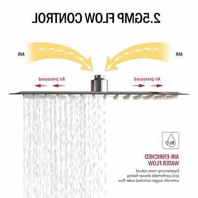 Chrome Inch Stainless Shower -Rainfall Showerhead