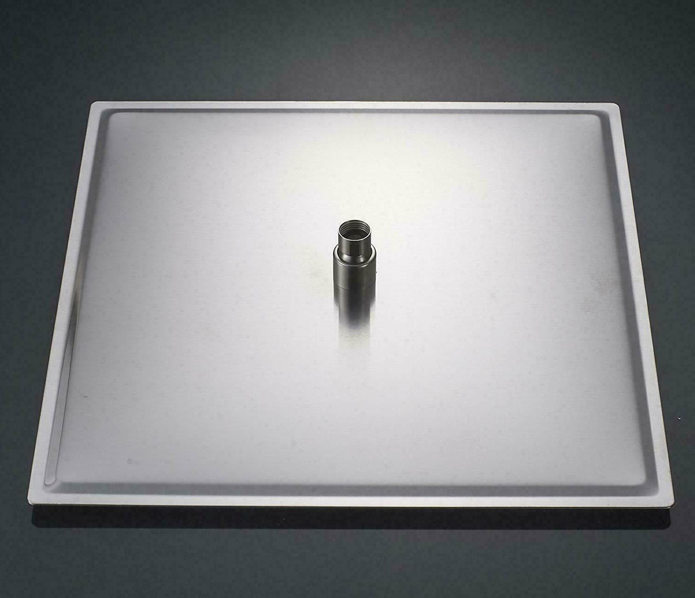 Brushed Nickel 8 Inch LED Shower Square Sprayer