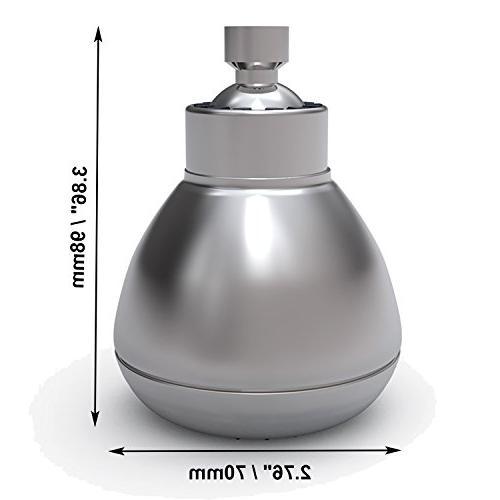 VEHHE Inch Fixed Shower High Showerhead Turbo - Wall Mount/Bathroom Adjustable Swivel Ball Joint Saving