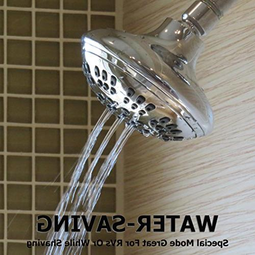 Shower Pressure Bathroom Showerhead For Low Flow Chrome