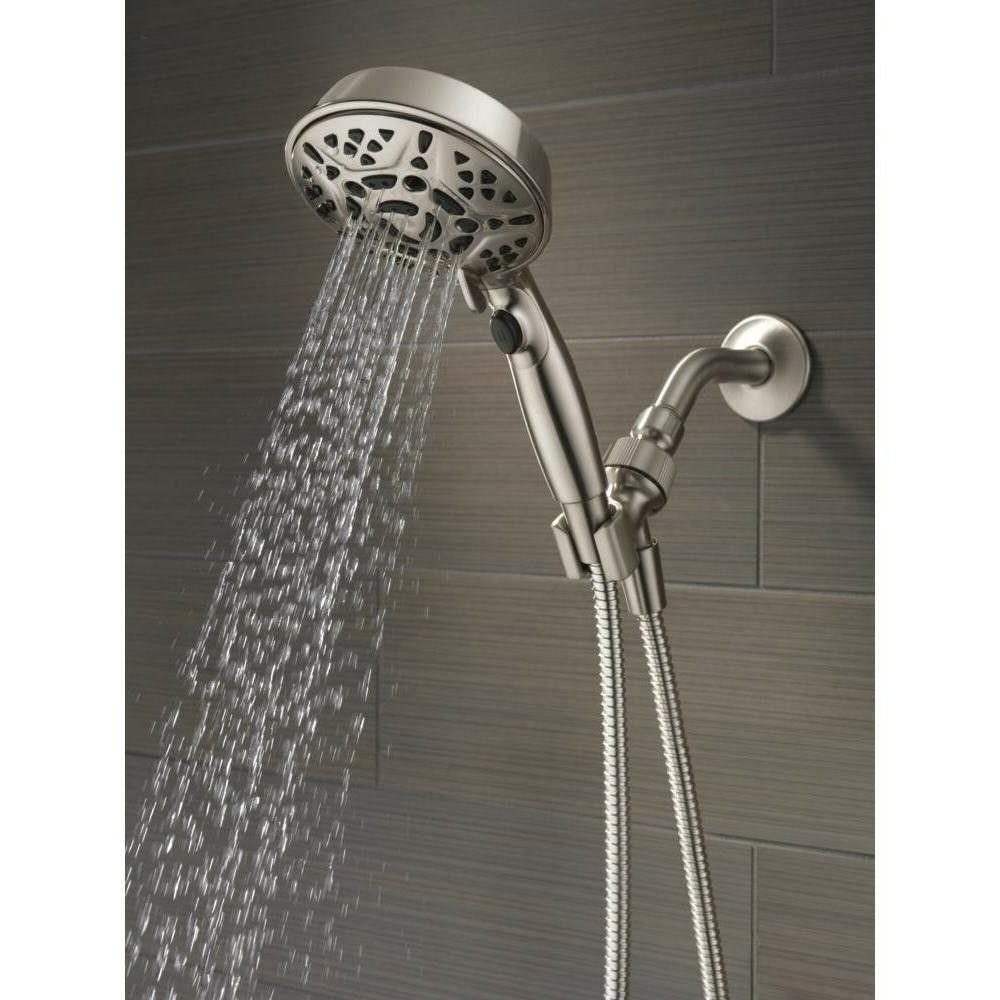 Hand Shower Brushed Fixture in Hose