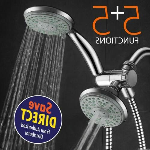 HotelSpa® 24-Setting Shower Head and Handheld Shower Combo