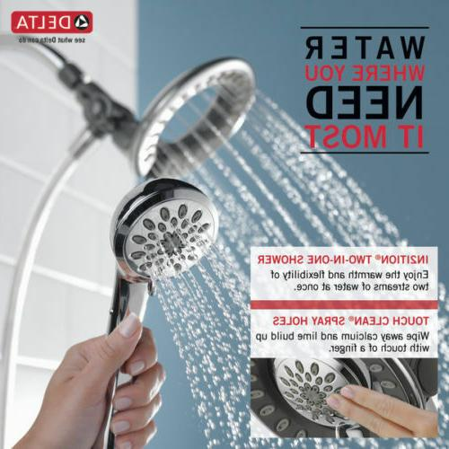 Delta In2ition 4-Spray 2.0 GPM Chrome Combo Hand-Held Shower