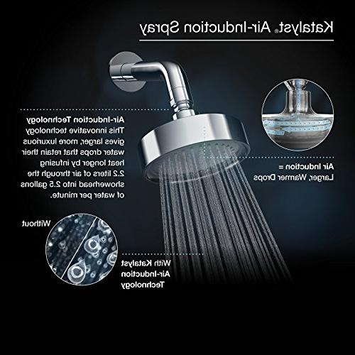 KOHLER K-10282-AK-CP Katalyst Showerhead, Polished