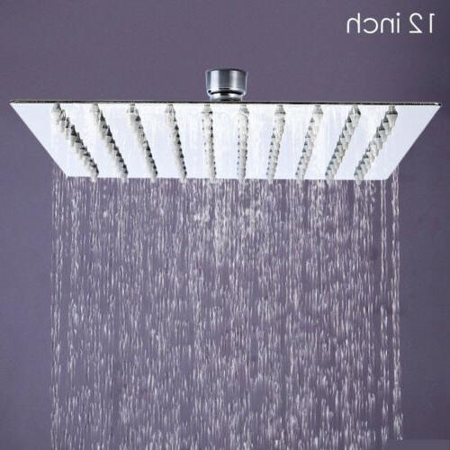 Large 12 Inch Stainless Rain Shower Head Style Showerhead