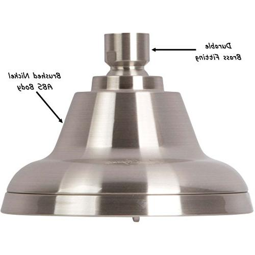 Shower Massage Head Mist Showerhead For Low Flow Showers Saving Nickel