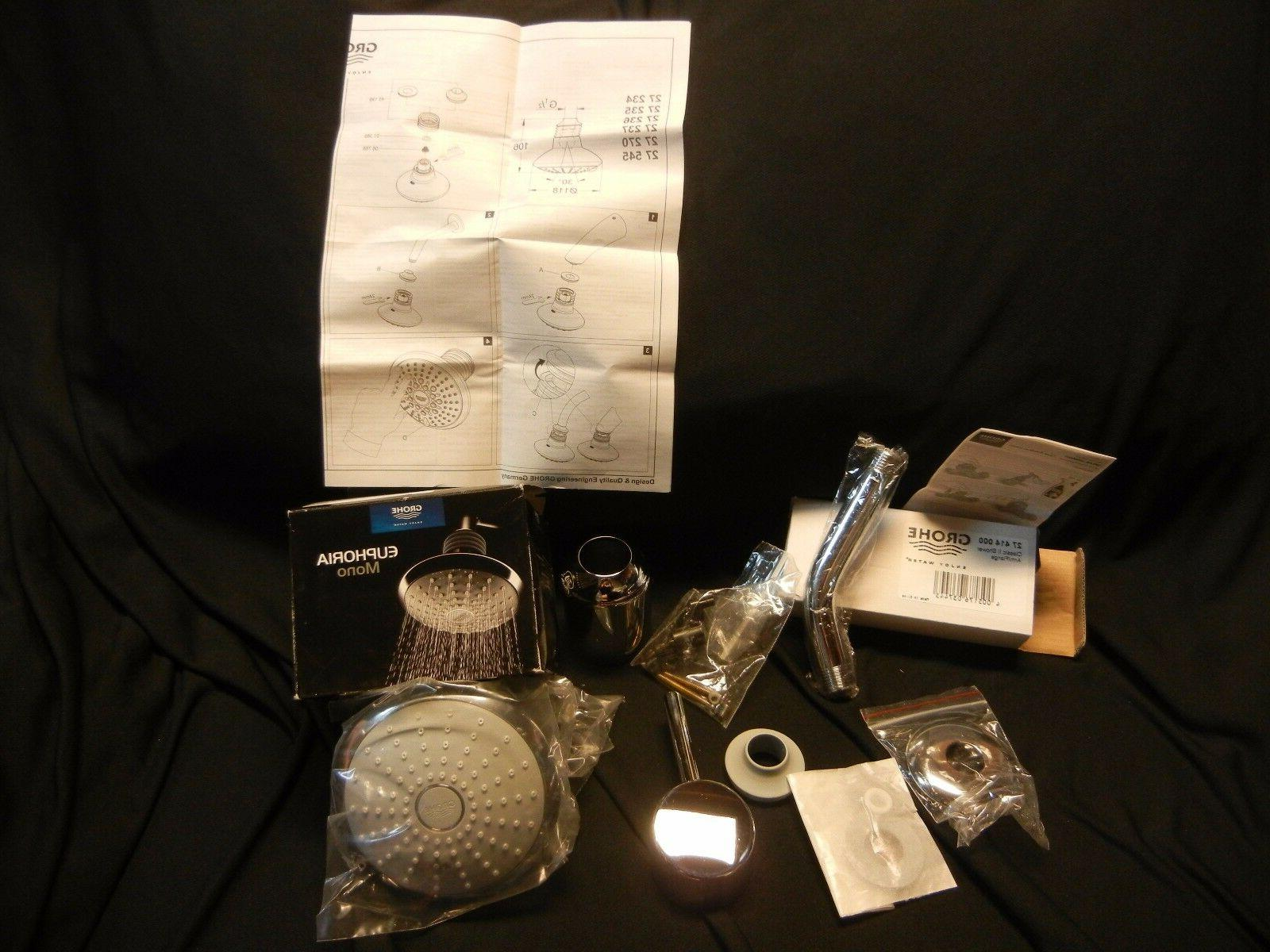 NEW Grohe 35010001 Concetto Shower head and Trim Combination