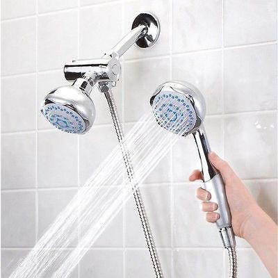 Deluxe Dual Massage Shower Head System Double Shower Faucet