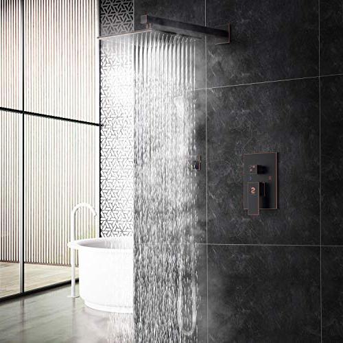 SR Rubbed 10 Bathroom Luxury Rain Combo Mounted Rainfall Shower Head