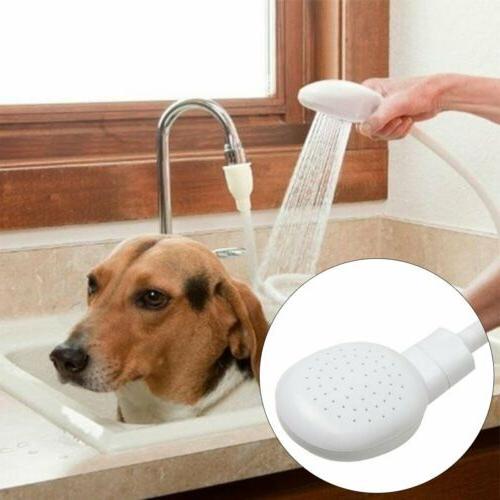 Hair Dog Pet Shower Spray Hose Bath Tub Sink Faucet Attachme