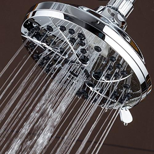 High Pressure 6-inch 6-Setting Premium Head the Ultimate Shower Experience! to Strict Quality & Performance Standards!