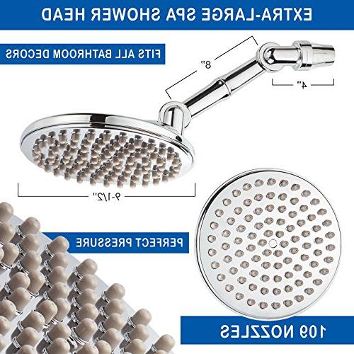 """HealthyLifeStyle! Shower Rainfall 9.5"""" with Extension Arm 