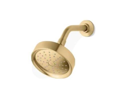 purist shower head modern brushed gold