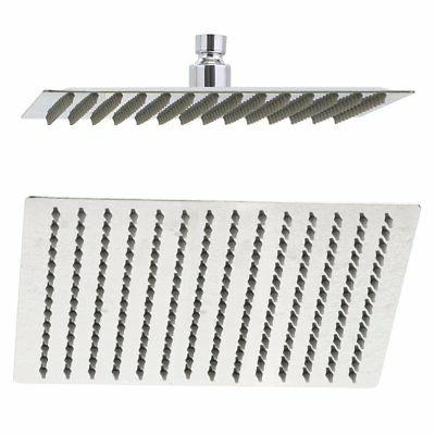 Rain Shower Head, 10 Inch Ultra Thin 304 Stainless Steel Sol
