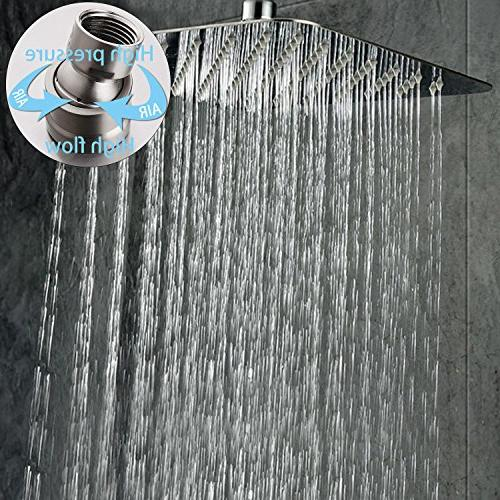 rain shower head brushed 304