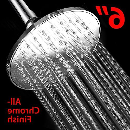 Hydroluxe 6-inch Head with Technology High Power Water Flow Wave Soap / Shampoo Design Shower Dispenser